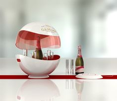 Mumm ice bucket on Behance