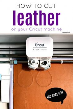 Cut real leather on your Cricut without ruining your MAT! This Cricut project is great for beginners. An easy tutorial for using leather and creating easy Cricut projects. Cricut Tutorials, Sewing Tutorials, Cricut Ideas, Cricut Project Ideas, Cricut Help, Cricut Air, Cricut Craft Room, Circuit Projects, Sewing Projects For Beginners