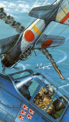 Japanese Zero in the Pacific Military Art, Military History, Raiden Fighter, Military Flights, In The Air Tonight, Ww2 Planes, Oceans Of The World, Ww2 Aircraft, Nose Art