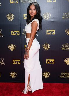 White & cut-out is exactly how we want our party garms to be this weekend (thanks, Karrueche)