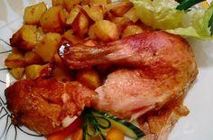 Sült csirke tepsis burgonyával | Receptkirály.hu
