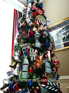 Adventures in Decorating-movie themed christmas tree!  I love it!!
