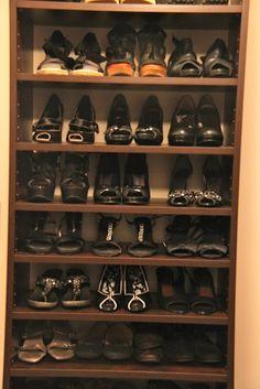 shoe organizing!