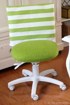 Home Office Decorating Ideas – Easy Office Chair Cover Idea | In My Own Style