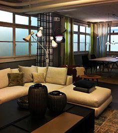 Store Brutisellen with Simone standing lamp @Delightfull Unique Lamps Mid-century Modern Design http://www.delightfull.eu/en/projects.php