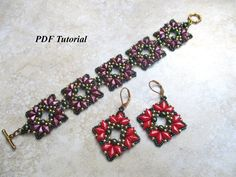 Beads Tutorial DiamonDuo Pattern Beading Tutorial Beadwork