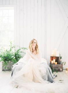 A light and airy bridal boudoir shoot at Texas' White Sparrow Barn | Christina Piombetti Photography on @limnandlovely via @aislesociety