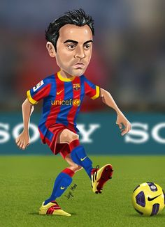 keep up-to-date with latest football transfer news and fresh football transfer rumours of Premier League , La Liga, Serie A, Bundesliga, MLS Xavi Barcelona, Lionel Messi Barcelona, Barcelona Football, Xavi Hernandez, Good Soccer Players, Football Players, Football Transfer News, Celebrity Caricatures, Football Wallpaper