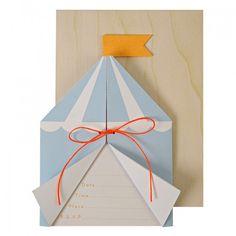 Meri Meri Silly Circus Invitations, paper, greeting card, party invite, kids