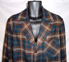 Vintage Mens Pendleton Wool 3 Button Shirt Jacket Blazer Size M Brown Plaid by RetroVintageByJim on Etsy Carhartt Jacket, Carhartt Wip, Shirt Jacket, Vintage Outfits, Plaid, Wool, Hoodies, Stylish, Jackets