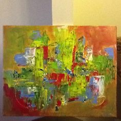 My aunt's painting...created by my mother and I!