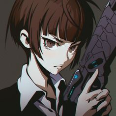 Anime girl / boy ( I don't know ) With a gun!