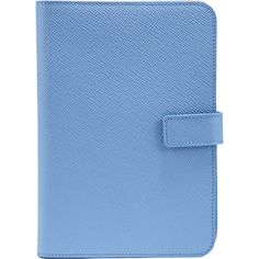 Smythson Panama iPad® Mini Case ($237) ❤ liked on Polyvore featuring accessories, tech accessories, fillers, other, books, blue fillers, blue and smythson