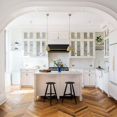 Architectural digest. Com, trim , white paint and gold handles