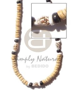 Exported Coco Pokalet Nat With Nassa Shell Coco Necklace sustainable unisex beach fashion jewelry. Beach Fashion, Tribal Fashion, Moda Natural, Collar Tribal, Fashion Accessories, Fashion Jewelry, Earth Color, Wooden Necklace, Natural Earth