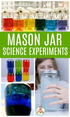What can you do in a jar? Quite a lot! These mason jar science experiments are so much fun, and help teach kids the basics of the scientific method and science vocabulary even if you're not a science teacher! Make learning science fun again! Kindergarten Science Experiments, Easy Science Experiments, Stem Science, Preschool Science, Science Vocabulary, Science Party, Science Activities For Kids, Science Projects, Science Ideas