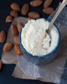 Easy, no soak Ricotta-style Almond Cheese – no blender needed. #Vegan #glutenfree #soyfree