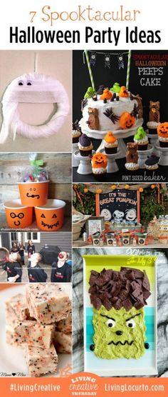 7 Spooktacular Halloween Party Ideas. So many great ideas here! #halloween