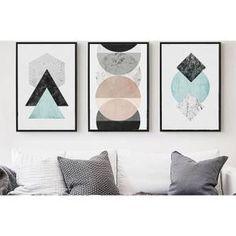 Le nouveau style nordique Accueil art peinture moderne géométrique lignes graphique résumé photo sans cadre peinture