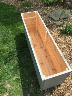 Cedar planter/Planter box/Outdoor storage/Wood by Rustiek on Etsy