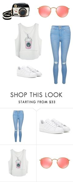"""""""My First Polyvore Outfit"""" by juliacunhahta ❤ liked on Polyvore featuring New Look, adidas, Ray-Ban and Betsey Johnson"""