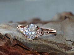 delicately beautiful engagement ring oval diamond rose gold custommade Beautiful Engagement Rings, Diamond Engagement Rings, Diamond Jewelry, Gold Jewelry, Oval Diamond, Wholesale Jewelry, Jewelry Gifts, Heart Ring, Wedding Rings