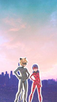 Miraculous ladybug wallpaper, screensaver, background - LadyNoir - Chat Noir and Ladybug