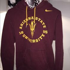 Women's Nike sweatshirt Arizona State University glitter logo women's sweatshirt. Although an XL, it fits more like a medium. Bought this last year with intentions to go to ASU and never went to ASU, now I don't wear it. Very comfortable and is in great condition.  *Ships from a smoke-free home. All articles of clothing will be washed or dry-ucleaned prior to being shipped* Nike Tops Sweatshirts & Hoodies