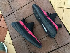 2494b7523a931 Adidas Mens Yeezy Boost 350 SPLY Core Black Red Core Black 2016 - Authentic  Jordans