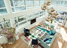 If we could live and die in this beautiful bright and colorful NYC penthouse...it has city views from every angle.