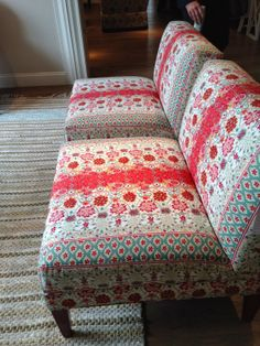 Duralee Tilton Fenwick fabric on chairs at Wesley Hall. Fabric available at Dean Warren, Scottsdale.