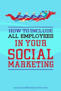 Your company's social media reach can grow dramatically if all of your employees are helping to spread your message.