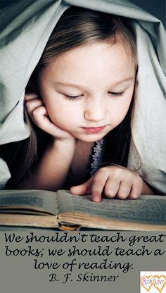 don't teach books, teach a love of reading . . .