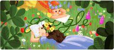 """Il #doodle di #Google è per Lucy Maud Montgomery, conosciuta anche in Italia per la serie """"Anna dai Capelli Rossi"""""""