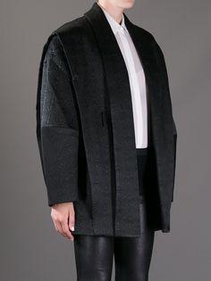 Oversized Coat with leather sleeve detail.  Fall Fashion 2013. #fall #fashion #oversizedcoats