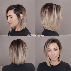 Latest Short Hairstyles, Pretty Hairstyles, Straight Hairstyles, Wedding Hairstyles, Medium Hair Styles, Short Hair Styles, Layered Bob Haircuts, Medium Bob Haircuts, Blunt Bob Haircuts