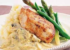 Chicken with Mustard Crème Fraiche recipe from Food in a Minute