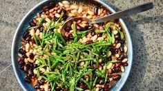 Mixed Bean Salad with Tomato Vinaigrette Recipe   Bon Appetit