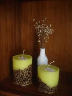 Yellow Cappuccino candles