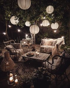 Incredible Dreamy Bohemian Garden Design Thoughts - All About Balcony Budget Home Decorating, Decorating Ideas, Decor Ideas, Porch Decorating, Outdoor Living, Outdoor Decor, Outdoor Garden Lighting, Outdoor Garden Furniture, Outdoor Rooms