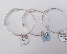 Buy Children's personalised adjustable bracelet with charms by Ems Jewellery at WowThankYou: https://www.wowthankyou.co.uk/ems-jewellery/products/