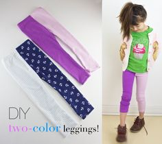 Two-Color Leggings Tutorial // Ruffles and Stuff