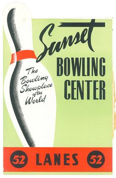 Sunset Bowling Center, Los Angeles by jericl cat, via Flickr. The u