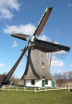 Polder mill Meermolen / De Onrust, Muiderberg, the Netherlands.