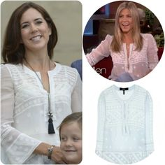 MYROYALS  FASHİON: Crown Princess Mary in a blouse by Isabel Marant; Jennifer Aniston has also worn the blouse.