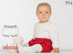 Schnittmuster Baby Pumphose Modell Elisa als ebook mit Nähanleitung, pdf download, Babyhose / Ballonhose von pattern4kids auf Etsy