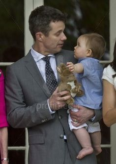 Crown Prince Frederik with Prince Vincent
