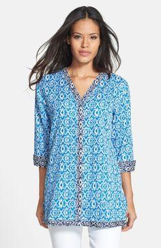 8e16415a77 Love this  Geo Print Cotton Tunic  Lyst Cotton Tunics