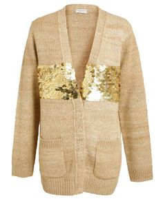 Bob Mackie's 3/4 Sleeve Sequin Cardigan and Knit Tank Set | Sequin ...