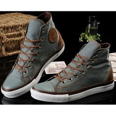 Converse Shoes Blue Chuck Taylor Vampire Mens/Womens Canvas & Leather Hi Sneakers